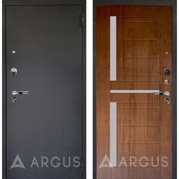 Сейф-дверь Аргус Люкс ПРО Черный шелк Альфред Дуб золотой