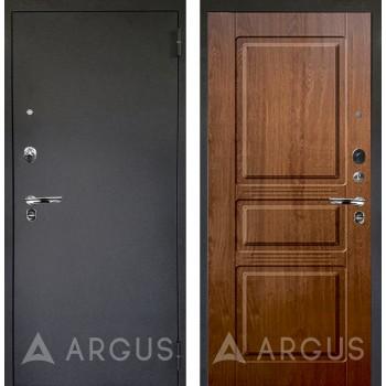 Сейф-дверь Аргус Люкс ПРО Черный шелк Сабина Дуб золотой