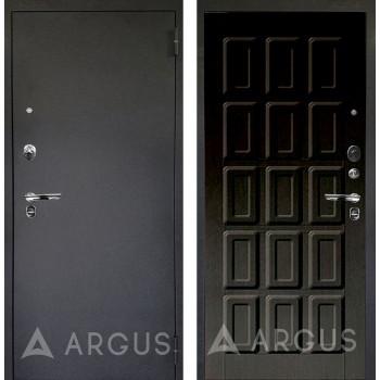 Сейф-дверь Аргус Люкс ПРО Черный шелк Шоколад Венге тисненый