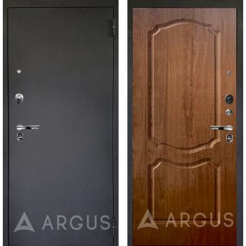 Сейф-дверь Аргус Люкс ПРО Черный шелк Сонет Дуб золотой