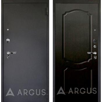 Сейф-дверь Аргус Люкс ПРО Черный шелк Сонет Венге тисненый
