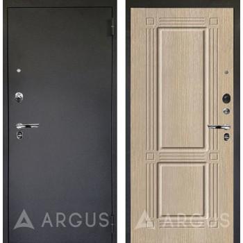 Сейф-дверь Аргус Люкс ПРО Черный шелк Триумф Капучино