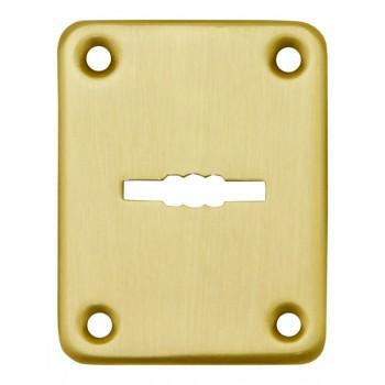 Декоративная накладка ESC082-GP-2 (ЗОЛОТО) на сувальдный замок (1шт) (латунь)
