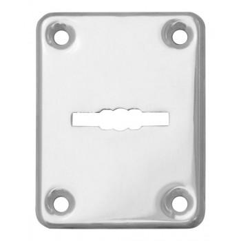 Декоративная накладка ESC082-CP-8 (ХРОМ) на сувальдный замок (1шт) (нерж. сталь)